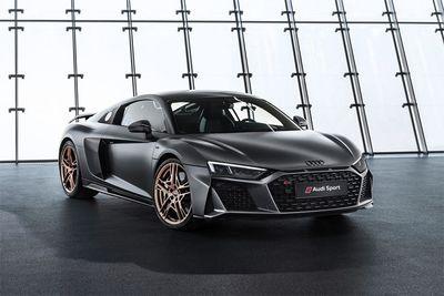 Automotive,Audi R8 Decennium,V10 engine,limited editon,bespoke,bronze mags,matte gray,cars,