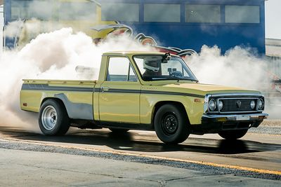 Automotive,Racing,1974 Mazda Rotary Pickup,REPU,Optima's Search for the Ultimate Street Car Challenge,unreliable,track day,Overkill,quarter-mile,cars,