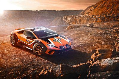 Automotive,Huracán Sterrato Concept,rally car,rallying,Lamborghini,mid-engined supercar,Lancia Stratos,Rothman's Porsche 959,Paris-Dakar,dirt,racing,cars,