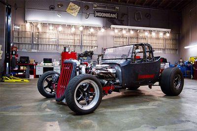 Automotive,Bad Daddy Braddy,fastest,1927 T-bucket rat rod,1000hp,drag,burnout,Hooigan,Build Biology,competitive,California,death trap,cars,