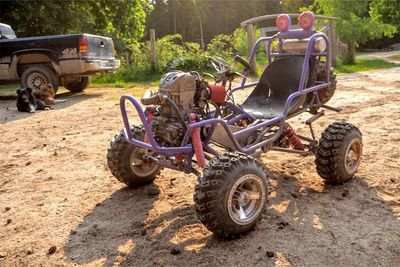 Automotive,Upgrade,Barbie Jeep,custom ,Four-Link Suspension,go-kart build,fabrication,off-road,shocks,news,