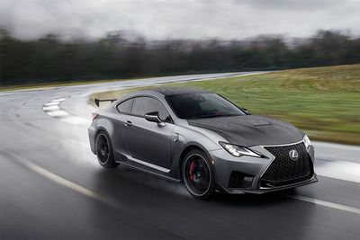 Automotive,2020 Lexus RC F Track Edition,science,carbo fibre,fast,5.0-Litre V8,exhaust,red interior,472hp,cars,