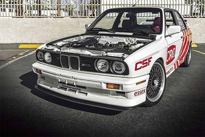 Automotive,cars,SEMA,performance,modified,build,fabricated,motor,S55 engine,Swapped,BMW E30 M3,