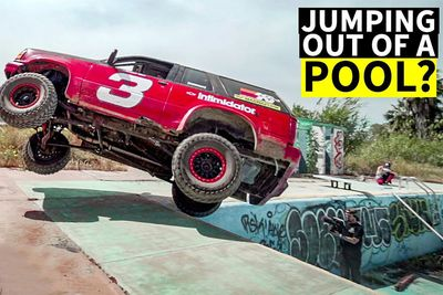 Automotive,news,jumps,swimming pool,off-road,Hoonigans,Mexico,racing trucks,Shredding,