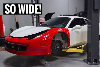 Cars,Automotive,build,installing,install,carbon kevlar,racing cars,GT3 widebody kit,Ferrari 458,