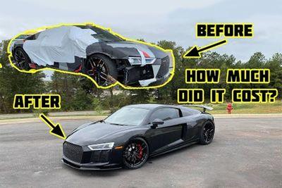 Automotive,news,profit,parts,Audi R8,wrecked,rebuild,Cost,