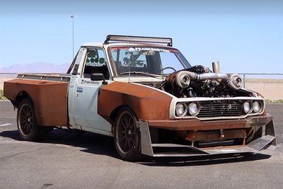 Automotive,Josh Mazerolle,cars,rebuild,Rat Rod,Netflix,Fastest Car,drag racing,crazy,Twin-Turbo Toyota Hilux,
