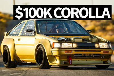 Automotive,Riko Guitierrez,cars,show-stopper,fabrication,custom,gold paintwork,SEMA,000,$100,Toyota Corolla AE86,