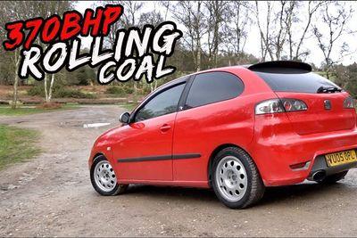 Automotive,cars,drag,methanol,modifications,fast,turbo,modified,Seat Ibiza,diesel,370BHP,