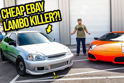 Automotive,B IS For Build,challenge,faster,Lamborghini,600whp,turbo,cars,drag,dragster,racer,Honda Civic,Tavarish,