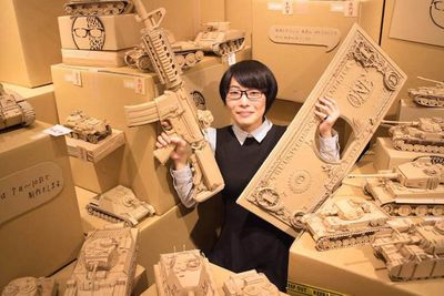 Viral,old,amazon,boxes,cardboard,creates,artist,Japanese,Scultures,